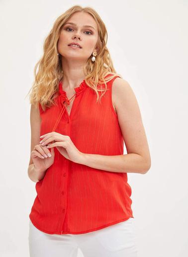 DeFacto Krinkıl Gömlek Kırmızı